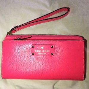 Kate Spade Wristlet Wallet Pink Multi Clutch